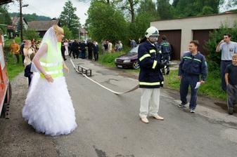 Krásné zadrhování od vrchovinských hasičů