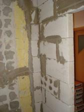 vytiahnutá stena, pohľad z vnútra