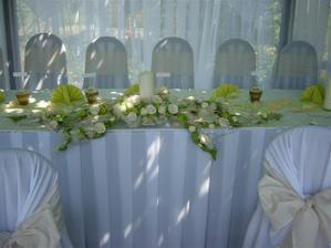 inšpirácie pre výzdobu hlavného stola