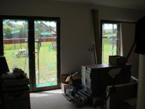 Obývačka - zatiaľ skladisko