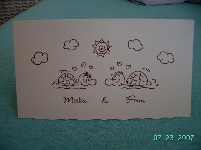 Čo už mám a akétaké predstavy - naše svadobné oznámenie