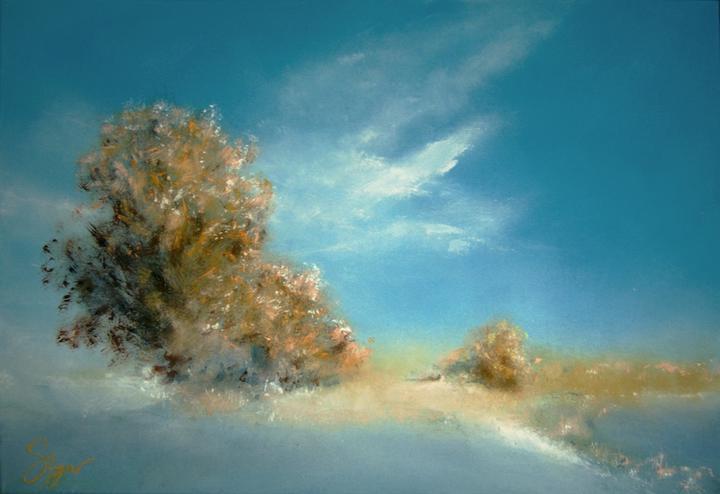 """""""1.1.2012"""", akryl na plátne, rozmer 70x50cm"""