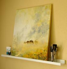 """""""jar, ktorá horí"""", akryl na plátne, rozmer 70x70cm"""
