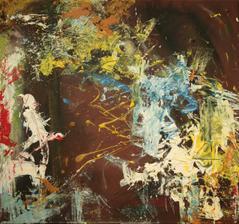 """""""vtáča II"""", akryl na plátne, rozmer 50x50 cm"""
