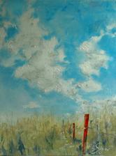 """""""Láska je cesta"""", akryl na plátne, rozmer 50x70cm"""