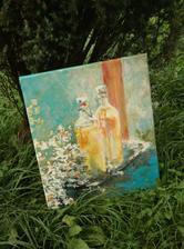 """""""pozvanie"""", akryl na plátne, rozmer 50x60cm (predaný)"""