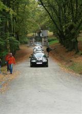 Příjezd na hrad Bouzov,zatím jsme všichni v očekávání co nás čeká