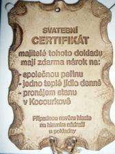 náš svatební certifikát