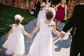 Bílé šaty pro družičku 122-128, 122