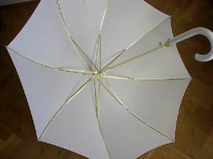 Svadobný dáždnik č. 1 - hladký - keby pršalo