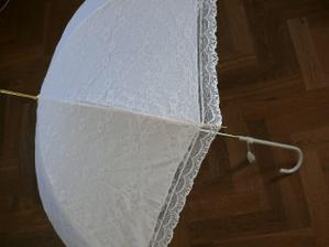 Svadobný dáždnik č. 2 - krajkový - na fotenie