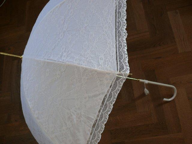 Andrejka a Peťko - Svadobný dáždnik č. 2 - krajkový - na fotenie