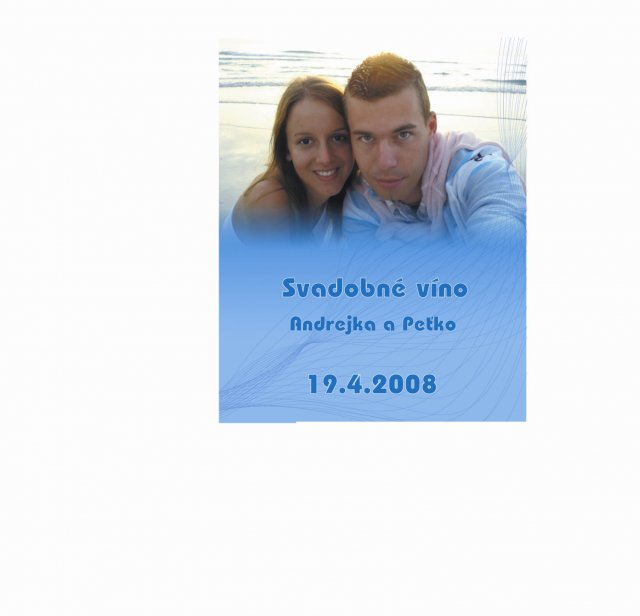 Andrejka a Peťko - Vigneta na svadobné víno