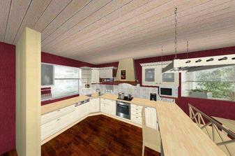takto približne bude vyzerať kuchyňa