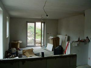 a toto z kuchyne cez ten pult do obývačky