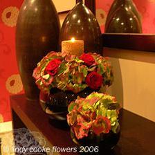 dalsi favorit - opet bile hortenzie, treba 5 ruzicek, bile svicka a jeste zelen :)