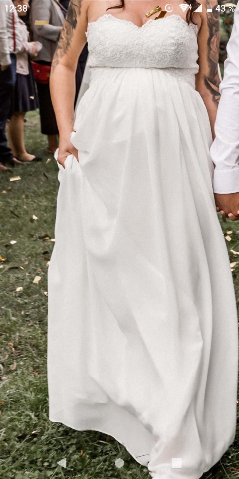 Těhotenské svatebni šaty  - Obrázek č. 4