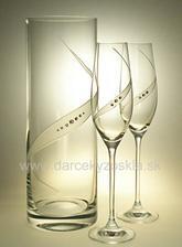 poháre a váza - už mame doma :)