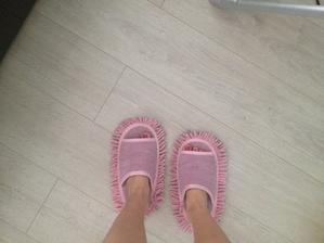 Pantofle na leštění podlahy od mamči;-))
