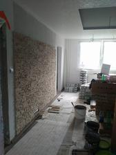 Kamenná stena v obývačke na ktorú pôjde televízor a biokrb :)