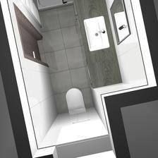 Prvý nástrel kúpelne pre doladením. Doska však bude mať inú farebnosť.