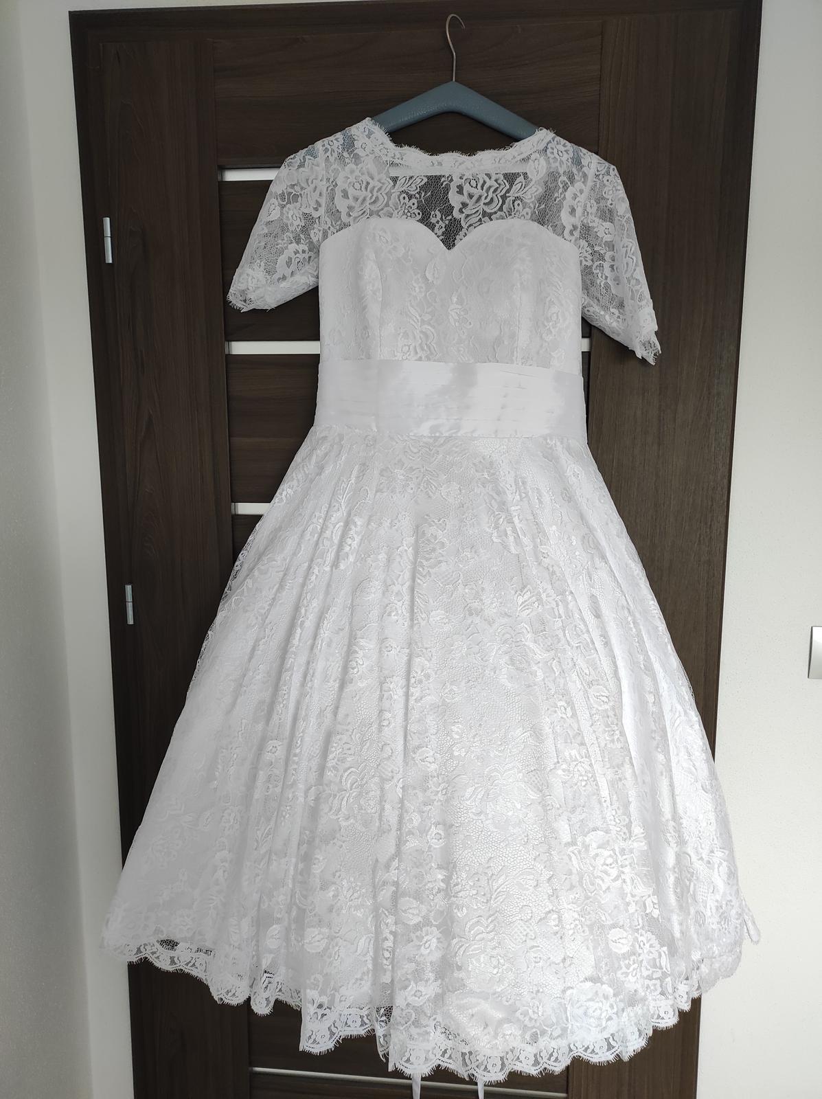 Svatební šaty krátké - Obrázek č. 3