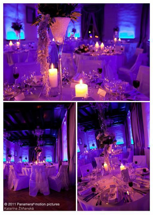 soundeffects - Takto môže vyzerať Vaša svadba v ktoromkoľvek hoteli či reštaurácii ! Svetlo dokáže veľa !