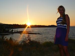 Co by to bylo za líbánky bez krásných západů slunce? Ano jsou i tady - západ v Tsilivi