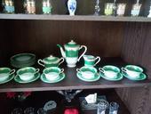Retro zelená kávový súprava - 21 kusov,
