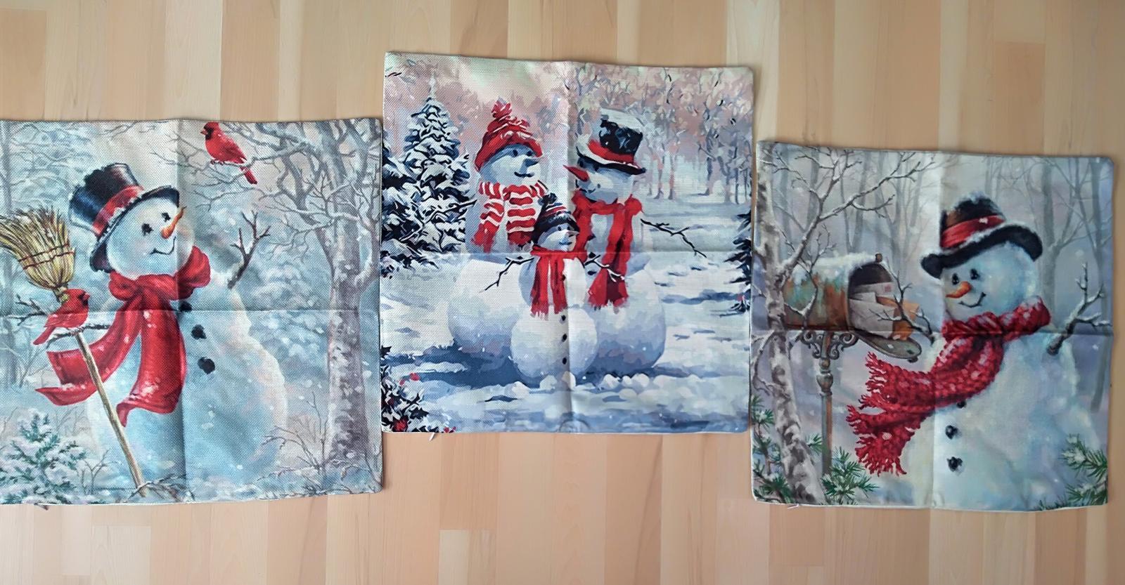 Zimné dekoračné obliečky na vankúše 3ks  - Obrázek č. 1