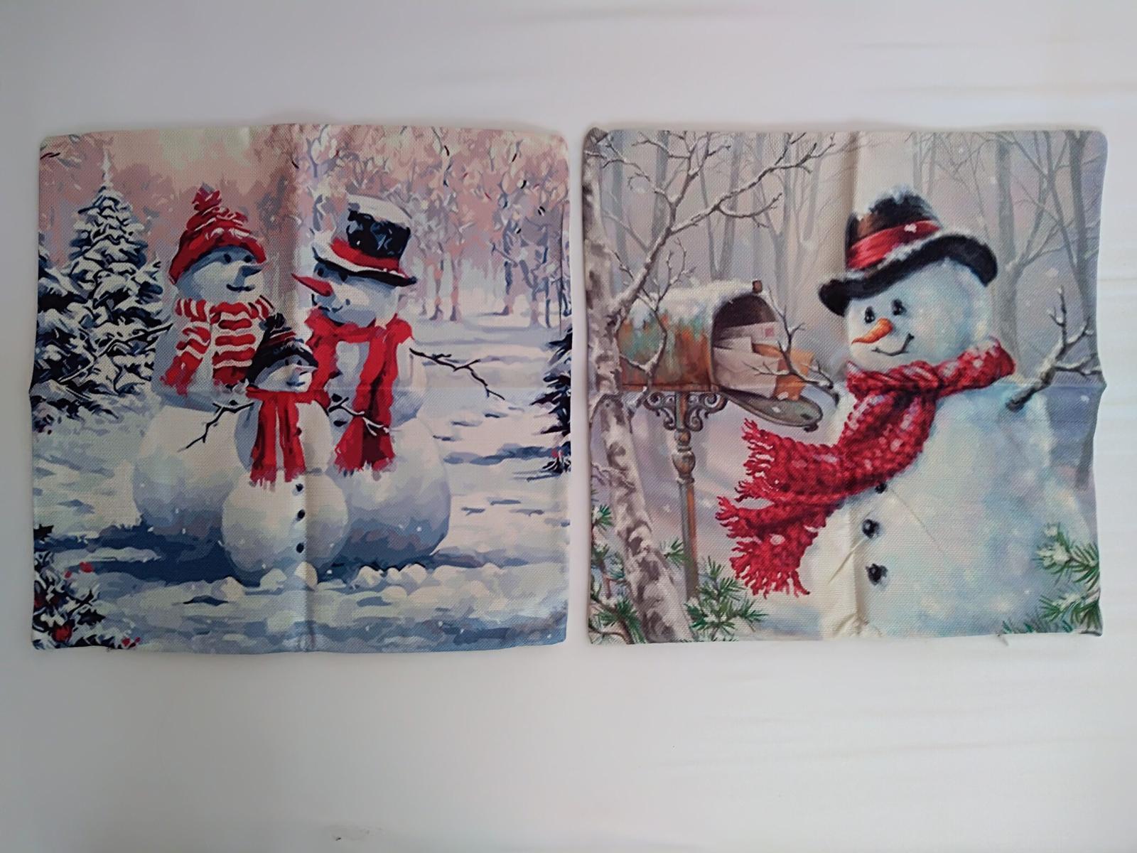 Zimné dekoračné obliečky na vankúše - 2ks - nové - Obrázok č. 1