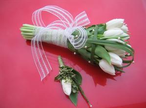 tulipány i s korzáží pro ženicha