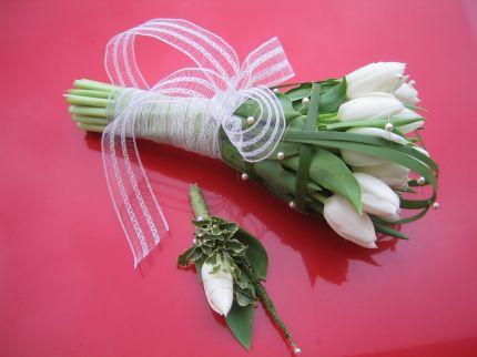 Svadobna kytica z tulipánov - Obrázok č. 7