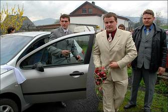 příjezd pro nevěstu