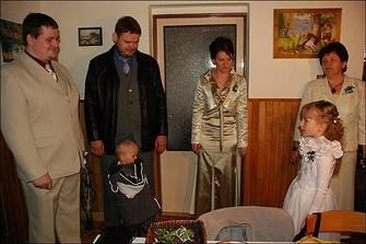 falešná nevěsta :-) Kristýnka