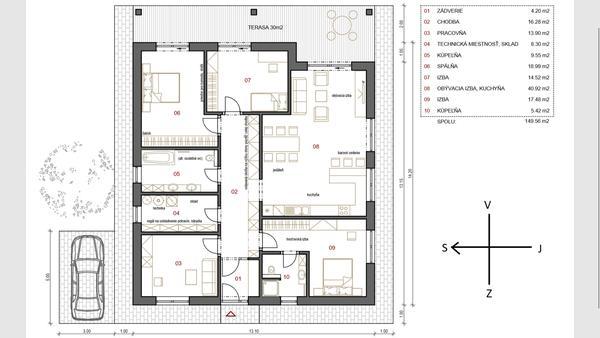 9fba78c413 Nazor na projekt 5izb bungalov - - Projekty