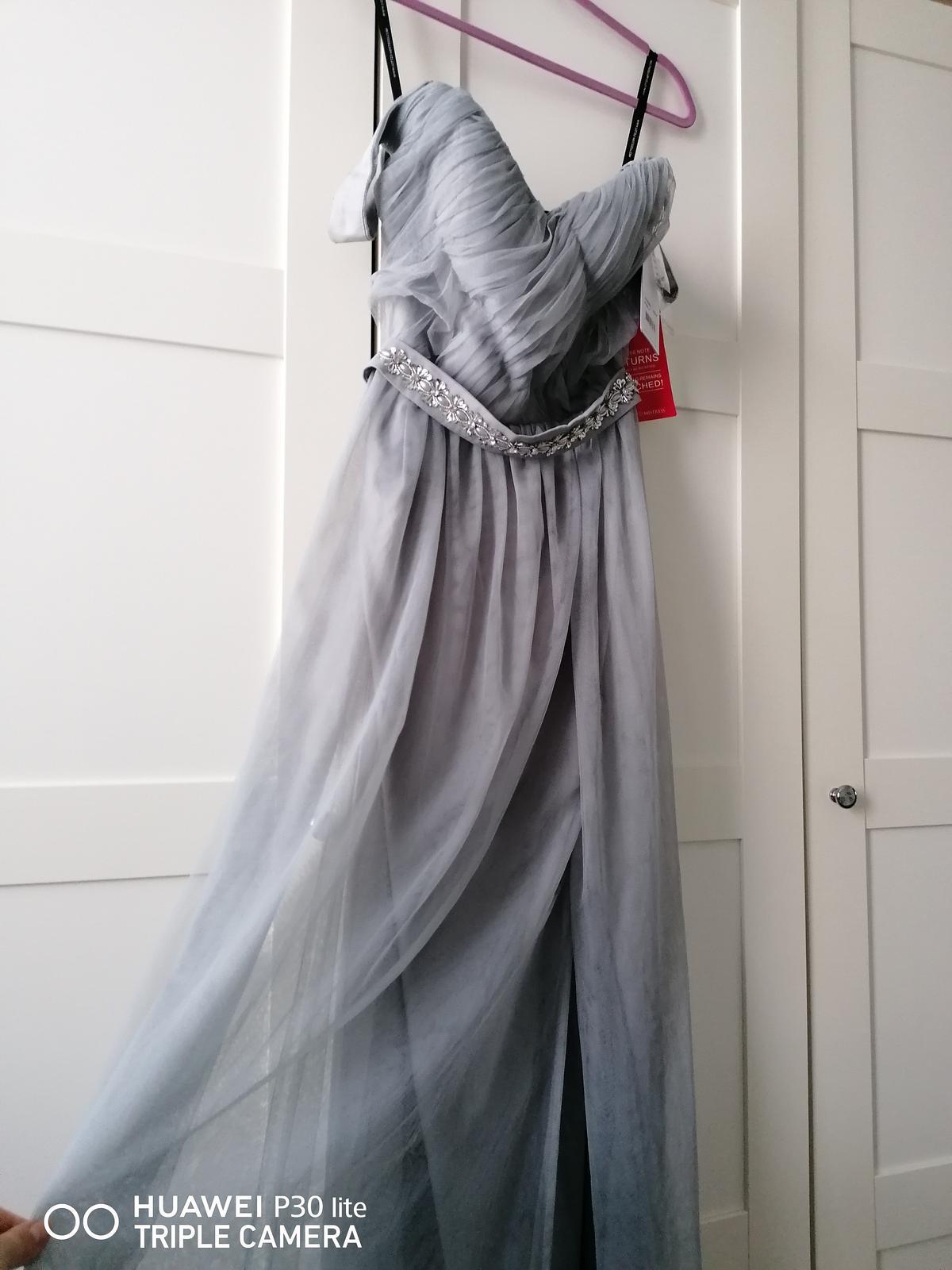Šaty L veľ 40, NOVE so štítkom sive - Obrázok č. 1