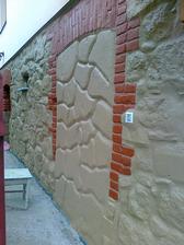 detail zamurovanej steny.