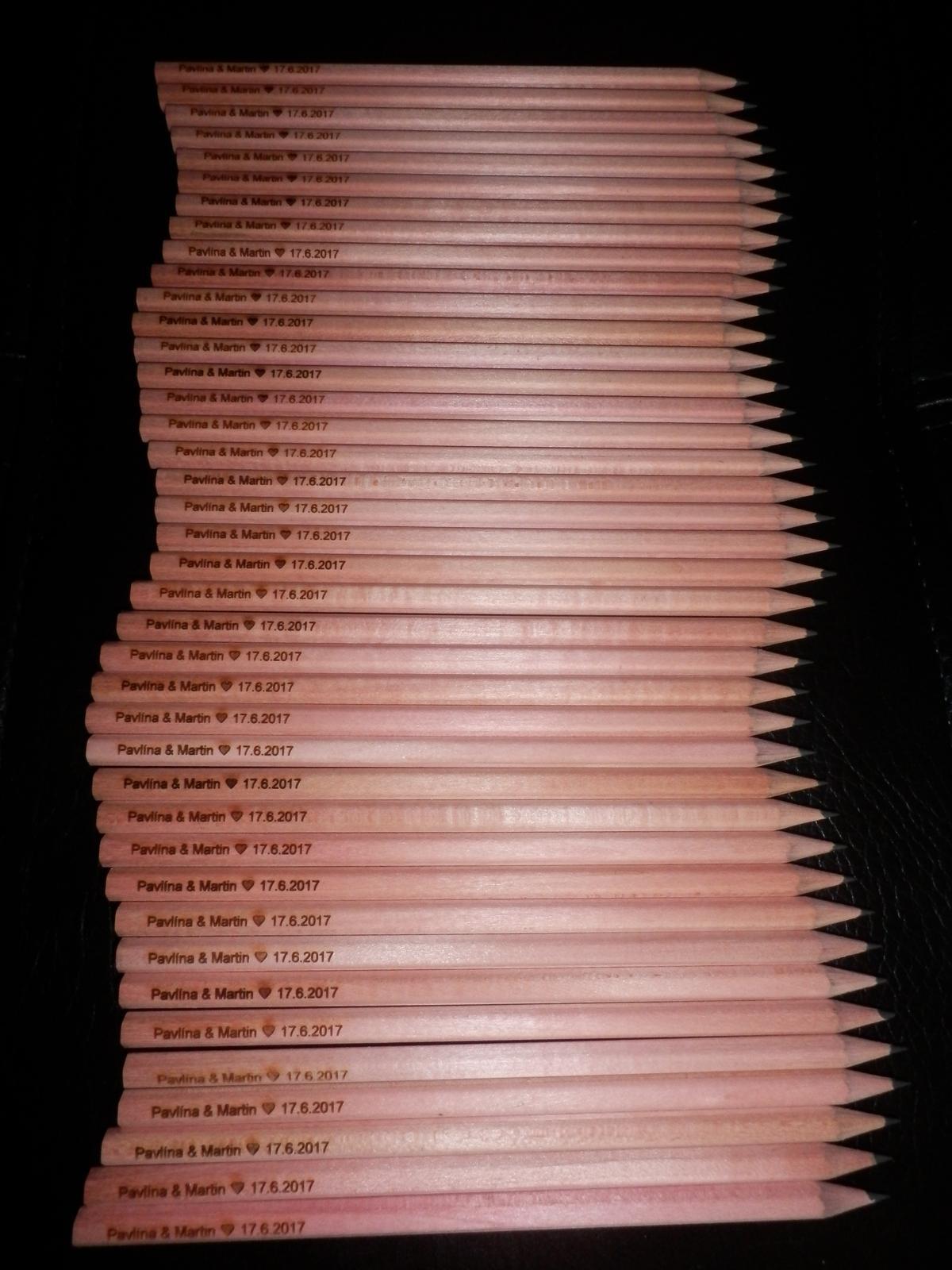 Fialová svatba - Co už máme :-) - svatební tužky - dárek pro hosty