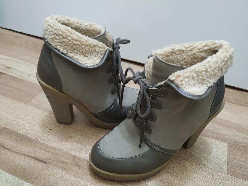 🎀 Teplé boty s kožíškem na podpatku 🎀 - Obrázek č. 1