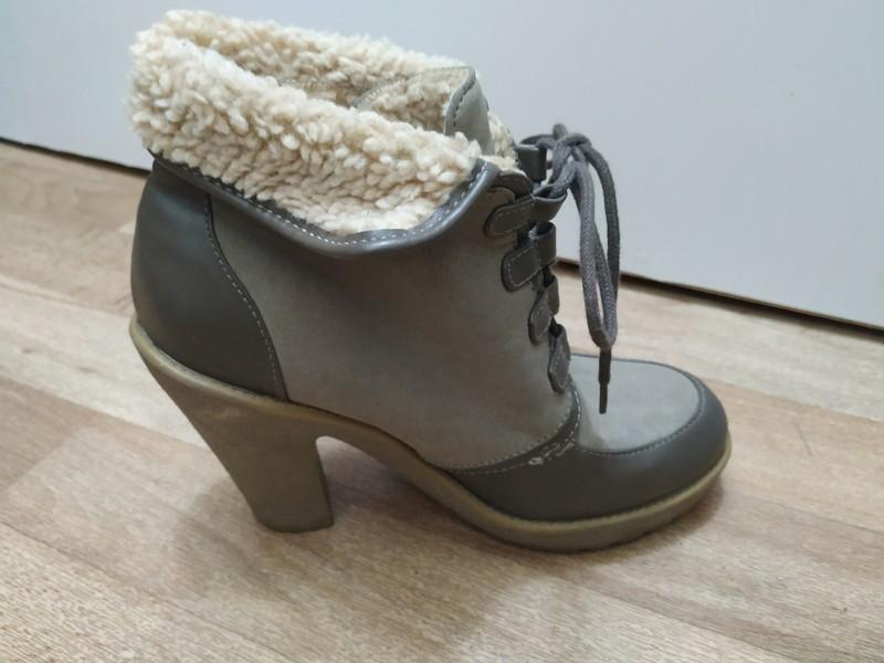 🎀 Teplé boty s kožíškem na podpatku 🎀 - Obrázek č. 2