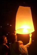 lietajuci balon so zelanim, len dufam, ze nic nepodpalime