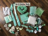 Svatební dekorace v mint barvě,