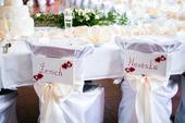 Svatební výzdoba a dekorace v krémové a bílé barvě,