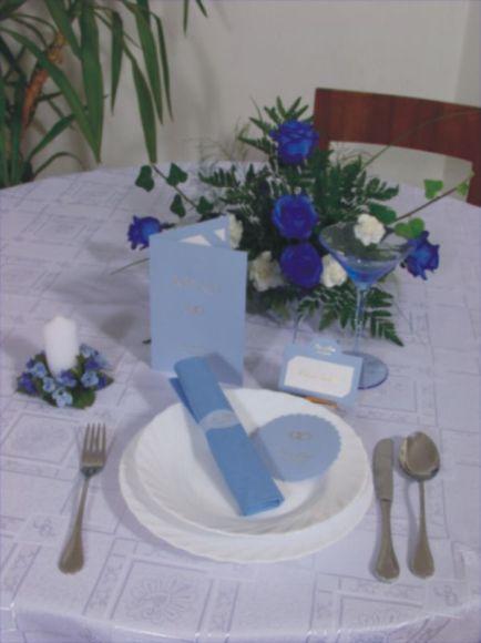 Moje sny o svadbe,inspiracia - modre prestieranie svadobne