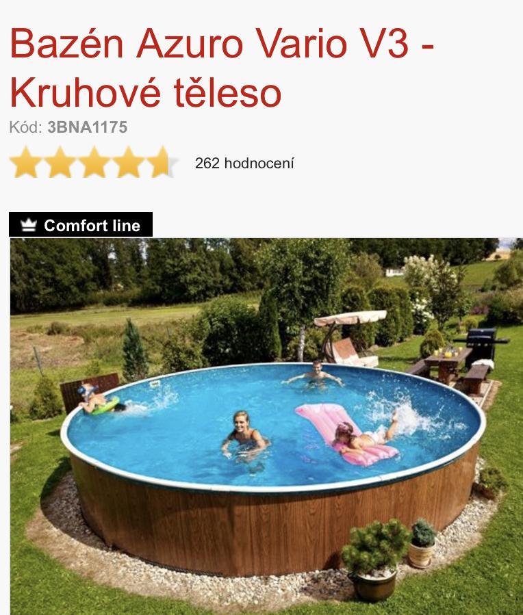 Prosím řešili jste někdo ZASTŘEŠENÍ bazénu na tenhle typ? Máme dvě malé děti a bojím se čím dál více. Budeme kupovat bazénový alarm, ale moc tomu nevěřím. Předem děkuji - Obrázek č. 1