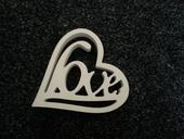 Dřevěné srdce - Love,