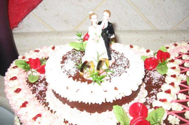 Detaily z nasej svadby - detail torty