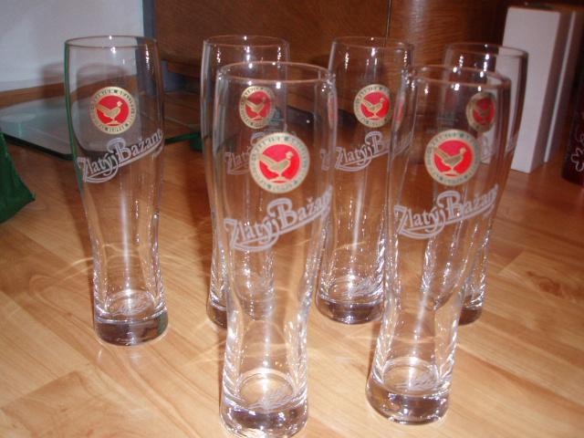 retro poháre na pivo Zlatý bažan - Obrázok č. 1