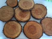 dřevo - dřevěné dekorace - dřevěné koláče,